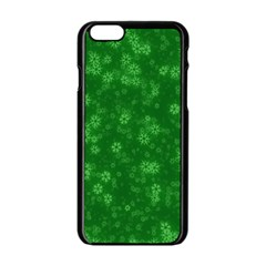 Snow Stars Green Apple Iphone 6/6s Black Enamel Case by ImpressiveMoments