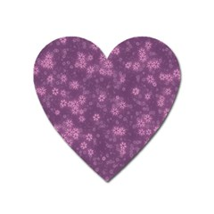 Snow Stars Lilac Heart Magnet by ImpressiveMoments