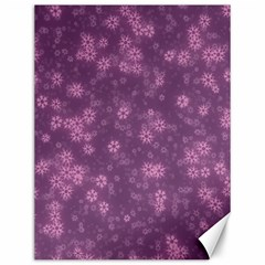 Snow Stars Lilac Canvas 12  X 16   by ImpressiveMoments