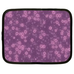 Snow Stars Lilac Netbook Case (large)	 by ImpressiveMoments
