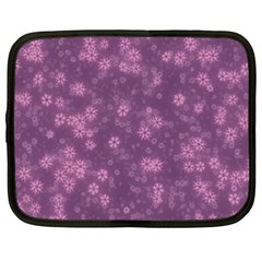 Snow Stars Lilac Netbook Case (xxl)  by ImpressiveMoments