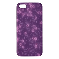 Snow Stars Lilac Iphone 5s Premium Hardshell Case by ImpressiveMoments