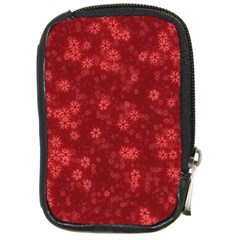 Snow Stars Red Compact Camera Cases by ImpressiveMoments