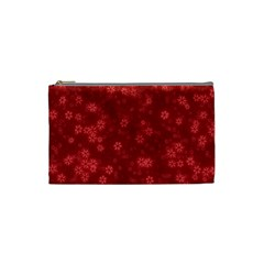 Snow Stars Red Cosmetic Bag (small)  by ImpressiveMoments