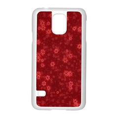 Snow Stars Red Samsung Galaxy S5 Case (white) by ImpressiveMoments