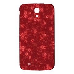Snow Stars Red Samsung Galaxy Mega I9200 Hardshell Back Case by ImpressiveMoments
