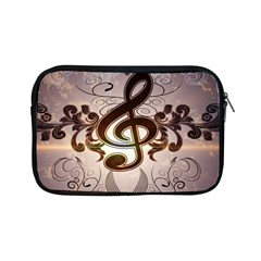 Music, Wonderful Clef With Floral Elements Apple Ipad Mini Zipper Cases by FantasyWorld7