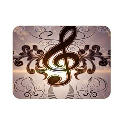 Music, Wonderful Clef With Floral Elements Double Sided Flano Blanket (mini)