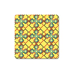 Shapes On A Yellow Background Magnet (square) by LalyLauraFLM
