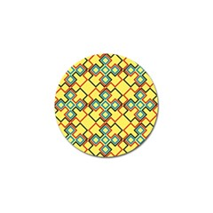 Shapes On A Yellow Background Golf Ball Marker (4 Pack) by LalyLauraFLM