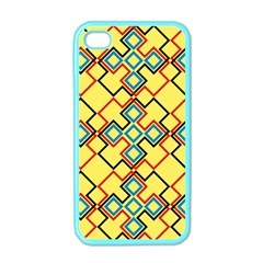 Shapes On A Yellow Background Apple Iphone 4 Case (color)