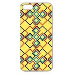 Shapes On A Yellow Background Apple Seamless Iphone 5 Case (clear) by LalyLauraFLM
