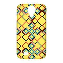 Shapes On A Yellow Background Samsung Galaxy S4 Classic Hardshell Case (pc+silicone) by LalyLauraFLM