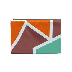 Misc Shapes In Retro Colors Cosmetic Bag (medium) by LalyLauraFLM