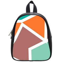 Misc Shapes In Retro Colors School Bag (small) by LalyLauraFLM