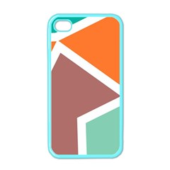 Misc Shapes In Retro Colors Apple Iphone 4 Case (color) by LalyLauraFLM