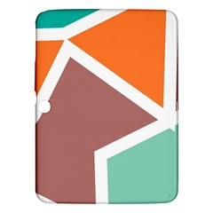 Misc Shapes In Retro Colors Samsung Galaxy Tab 3 (10 1 ) P5200 Hardshell Case  by LalyLauraFLM