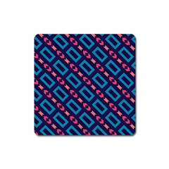 Rectangles And Other Shapes Pattern Magnet (square) by LalyLauraFLM