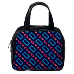 Rectangles And Other Shapes Pattern Classic Handbag (one Side) by LalyLauraFLM
