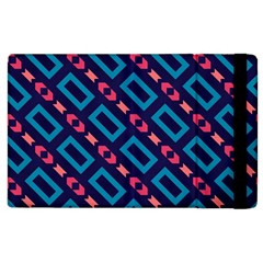 Rectangles And Other Shapes Pattern Apple Ipad 3/4 Flip Case by LalyLauraFLM