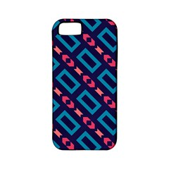 Rectangles And Other Shapes Pattern Apple Iphone 5 Classic Hardshell Case (pc+silicone) by LalyLauraFLM