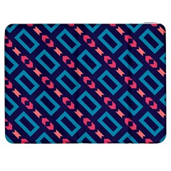 Rectangles And Other Shapes Pattern Samsung Galaxy Tab 7  P1000 Flip Case by LalyLauraFLM