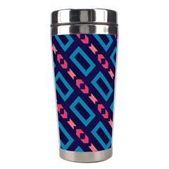 Rectangles And Other Shapes Pattern Stainless Steel Travel Tumbler by LalyLauraFLM