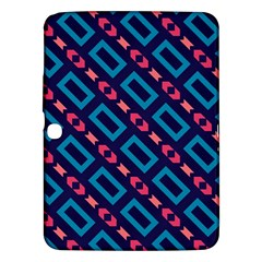 Rectangles And Other Shapes Pattern Samsung Galaxy Tab 3 (10 1 ) P5200 Hardshell Case  by LalyLauraFLM