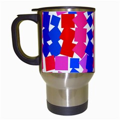 Colorful Squares Travel Mug (white) by LalyLauraFLM