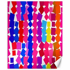 Colorful Squares Canvas 11  X 14