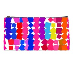 Colorful Squares Pencil Case by LalyLauraFLM
