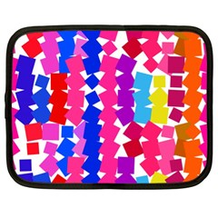 Colorful Squares Netbook Case (xl) by LalyLauraFLM