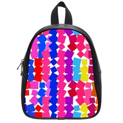 Colorful Squares School Bag (small)