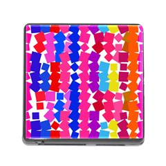 Colorful Squares Memory Card Reader (square) by LalyLauraFLM