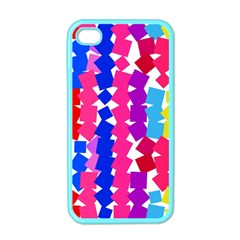 Colorful Squares Apple Iphone 4 Case (color) by LalyLauraFLM