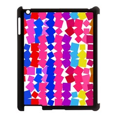 Colorful Squares Apple Ipad 3/4 Case (black) by LalyLauraFLM