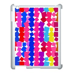 Colorful Squares Apple Ipad 3/4 Case (white) by LalyLauraFLM