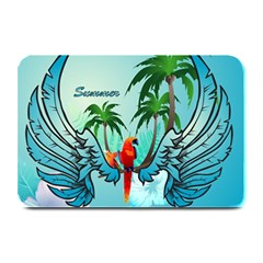 Summer Design With Cute Parrot And Palms Plate Mats