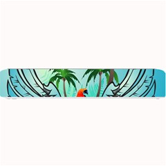 Summer Design With Cute Parrot And Palms Small Bar Mats