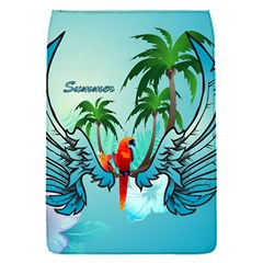Summer Design With Cute Parrot And Palms Flap Covers (s)