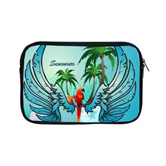 Summer Design With Cute Parrot And Palms Apple Ipad Mini Zipper Cases