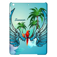 Summer Design With Cute Parrot And Palms Ipad Air Hardshell Cases