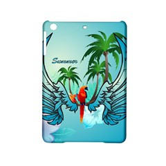 Summer Design With Cute Parrot And Palms Ipad Mini 2 Hardshell Cases