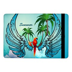 Summer Design With Cute Parrot And Palms Samsung Galaxy Tab Pro 10 1  Flip Case