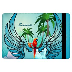 Summer Design With Cute Parrot And Palms Ipad Air Flip