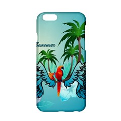 Summer Design With Cute Parrot And Palms Apple Iphone 6/6s Hardshell Case