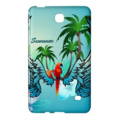 Summer Design With Cute Parrot And Palms Samsung Galaxy Tab 4 (8 ) Hardshell Case