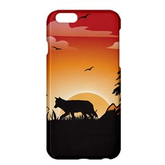 The Lonely Wolf In The Sunset Apple Iphone 6 Plus/6s Plus Hardshell Case by FantasyWorld7