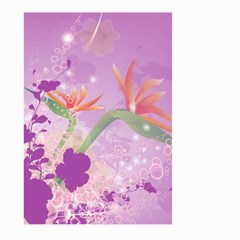 Wonderful Flowers On Soft Purple Background Large Garden Flag (two Sides) by FantasyWorld7