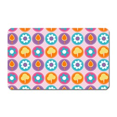 Chic Floral Pattern Magnet (rectangular) by creativemom